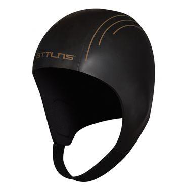 BTTLNS Neoprene swim cap Khione 1.0 black/gold