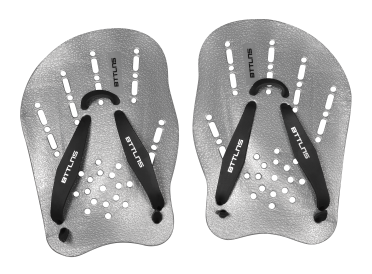 BTTLNS Trireme 1.0 hand paddles silver