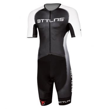 BTTLNS Typhon 2.0 trisuit short sleeve black/white men