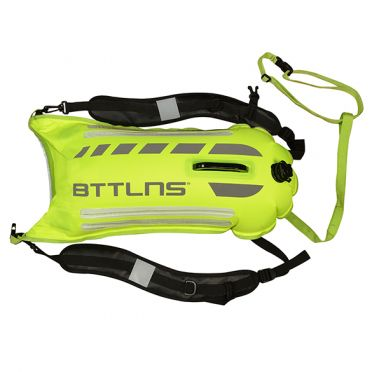 BTTLNS Saferswimmer security lighted buoy dry bag Scamander 2.0 neon green