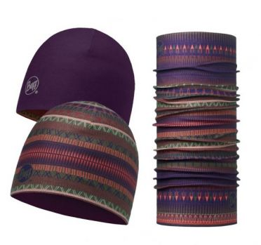 BUFF Microfiber reversible hat + original BUFF combi oslo purple