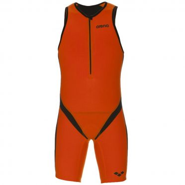 Arena Carbon pro front zip sleeveless trisuit orange men