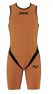 Arena Carbon pro rear zip sleeveless trisuit orange men