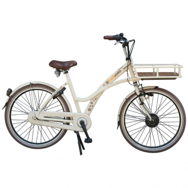 Dutchebike electric ladies bike cargo beige