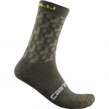 Castelli Cubi 18 cycling socks green men