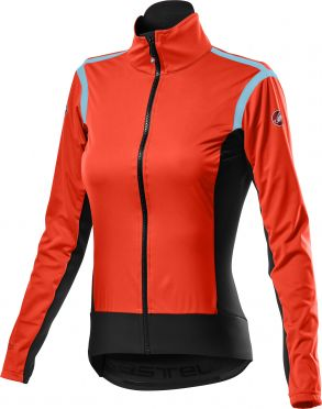 Castelli Alpha RoS 2 light cycling jacket red woman