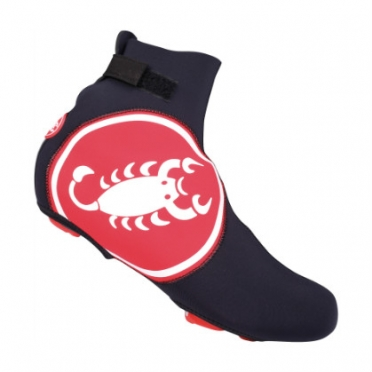 Castelli Diluvio shoecover black/red mens 14537-123