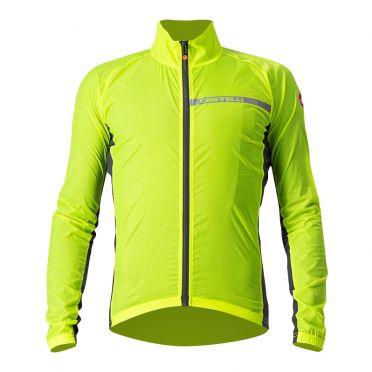 Castelli Squadra stretch cycling jacket yellow men