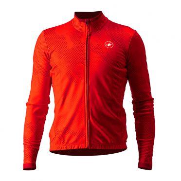 Castelli Pericolo long sleeve jersey red men