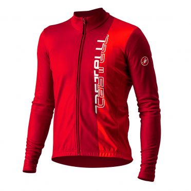 Castelli Traguardo long sleeve jersey red men