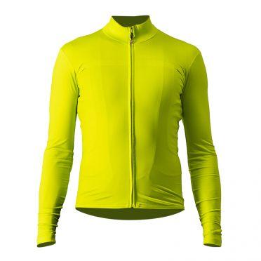 Castelli Pro thermal Mid long sleeve jersey yellow men