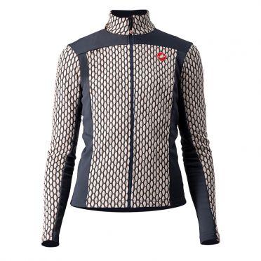 Castelli Sfida 2 long sleeve jersey light pink/blue woman