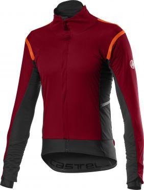Castelli Alpha RoS 2 cycling jacket dark red men
