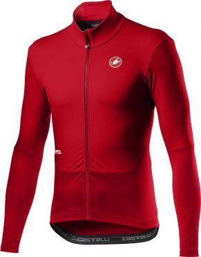 Castelli Nano mid wind jersey long sleeve red men