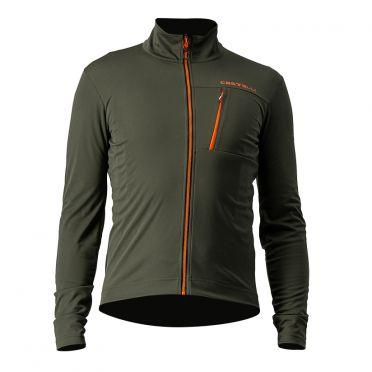 Castelli GO cyling jacket green men