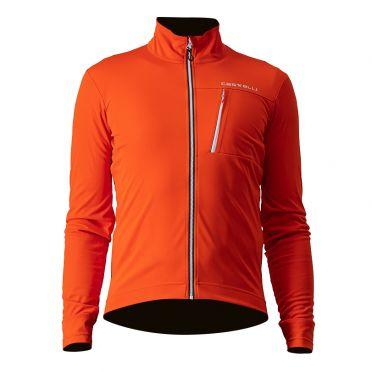 Castelli GO cyling jacket orange men