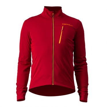 Castelli GO cyling jacket red men