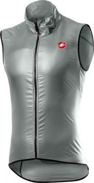 Castelli Aria cycling vest sleeveless silver women