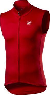 Castelli Pro thermal mid cycling vest sleeveless red men