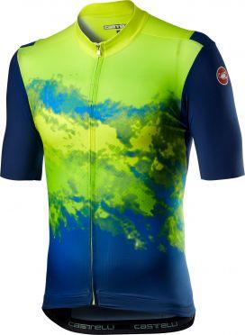 Castelli Polvere short sleeve jersey yellow/blue men