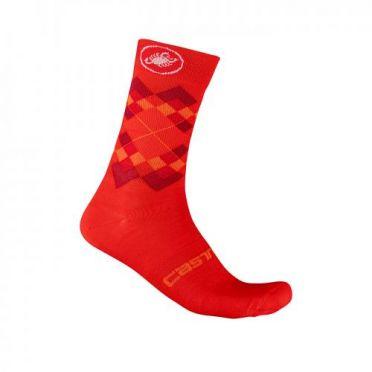 Castelli Rombo 18 cycling socks red men