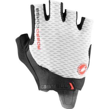 Castelli Rosso Corsa Pros V glove white men
