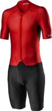 Castelli Sanremo 4.1 speed suit short sleeve black/red men
