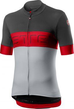 Castelli Prologo VI jersey black/red/grey men