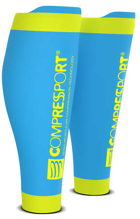 Compressport R2 v2 compression calf tubes ice blue