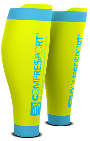 Compressport R2 v2 compression calf tubes yellow
