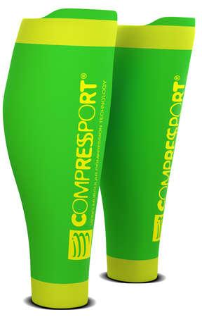 Compressport R2 v2 compression calf tubes green
