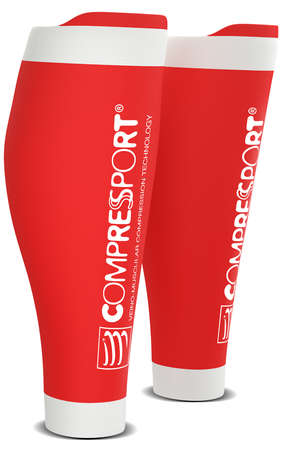 Compressport R2 v2 compression calf tubes red