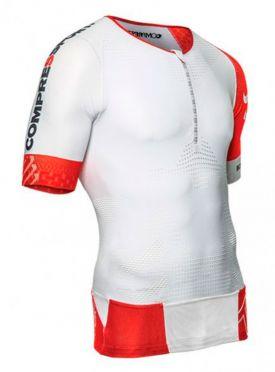 Compressport Tr3 aero top compression top white