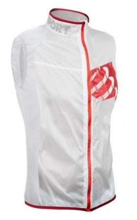 Compressport Trail hurricane vest running jacket white