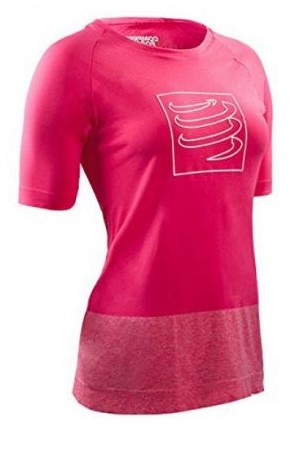 Compressport Training t-shirt pink woman