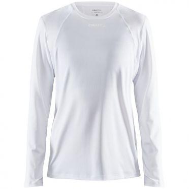Craft Essence slim jersey LS white woman