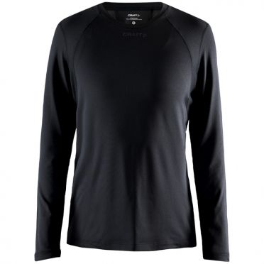 Craft Essence slim jersey LS black woman
