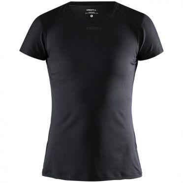 Craft Essence slim jersey SS black woman