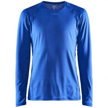 Craft Essence slim jersey LS blue men