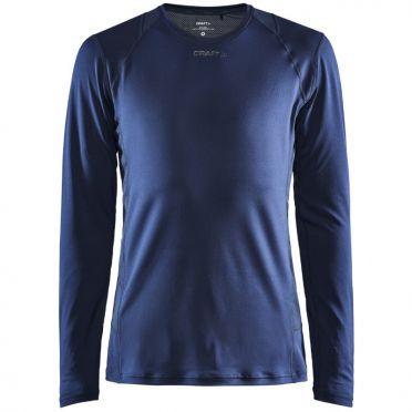 Craft Essence slim jersey LS dark blue men