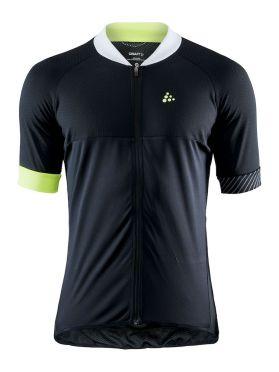 Craft Adopt cycling jersey black/yellow men