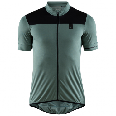 Craft Point cycling jersey green men