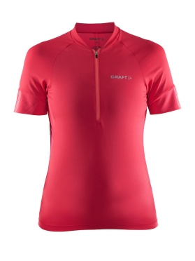Craft Velo cycle jersey red women