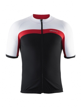 Craft Velo cycle jersey black/white/red men