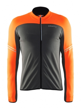 Craft Velo thermal cycling jersey long sleeve black/orange men