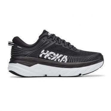 Hoka One One Bondi 7 running shoes black/white women