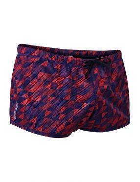 Zone3 Drag Shorts blue/red unisex