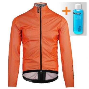 Assos Equipe RS Schlosshund rain jacket orange unisex
