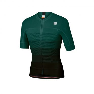 Sportful Bodyfit pro evo jersey short sleeves green/black men