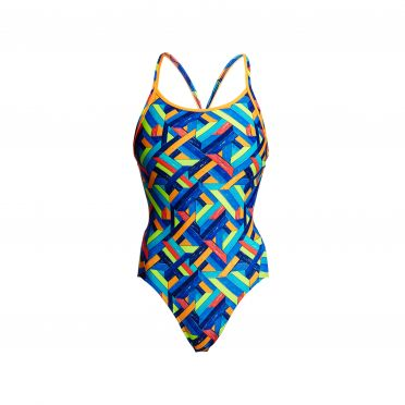Funkita Boarded Up diamond back bathing suit women